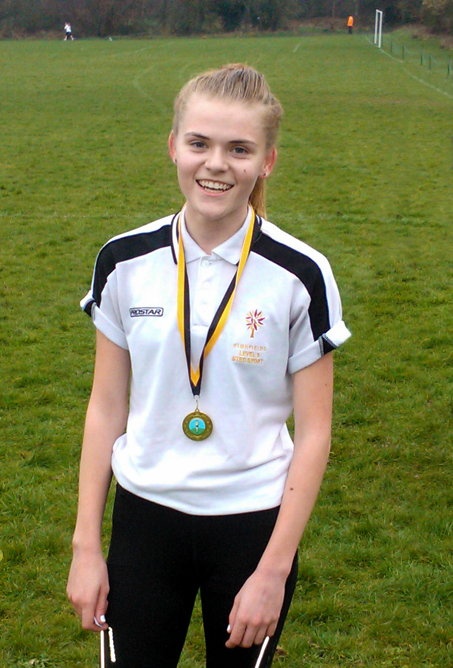 Hannah Campion with her Gold Medal