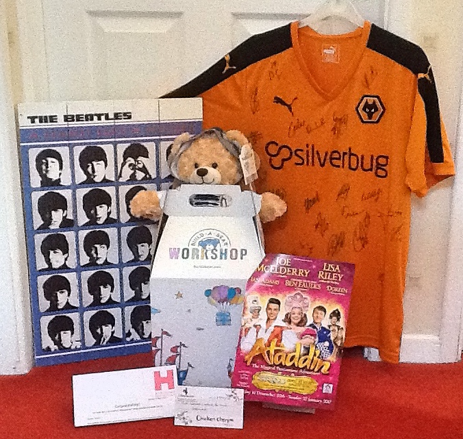 Items that will be auctioned off for charity