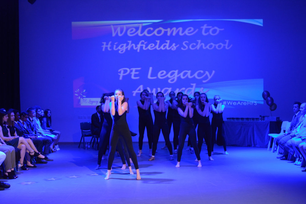 Highfields dancers entertain the audience at last year's inaugural PE Legacy Awards