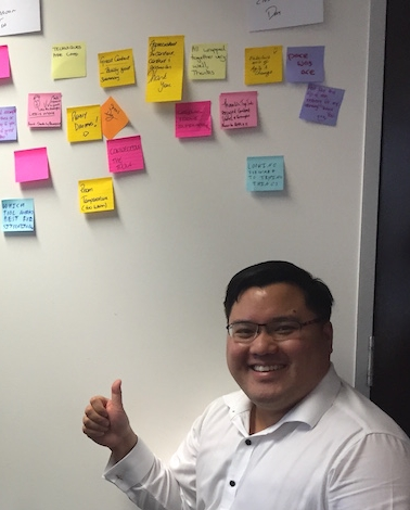 Peter with great feedback from a recent Agile Lean Change Management workshop in Melbourne.