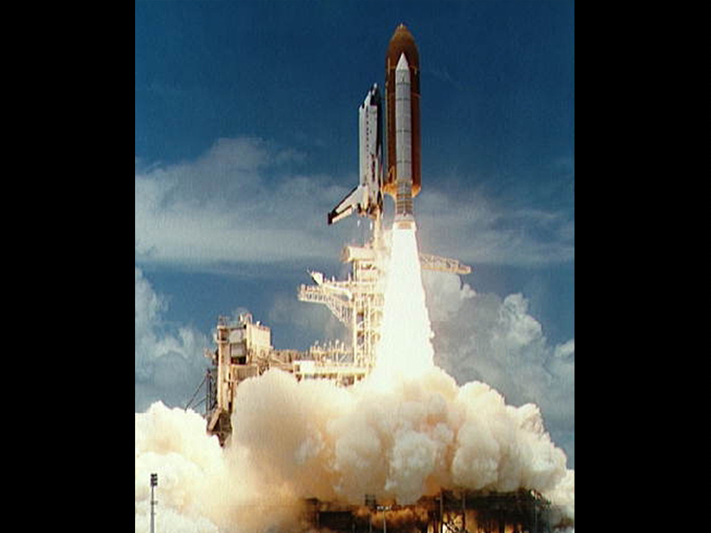 STS-65 launch from KSC pad 39A on July 8, 1994