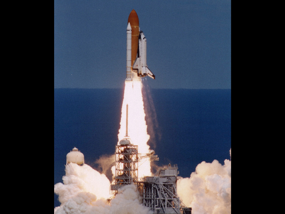 Launch of Columbia on the STS-83 mission April 4, 1997.