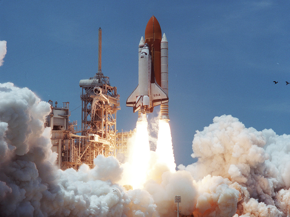 Launch of Columbia on the STS-94 mission July 1, 1994.