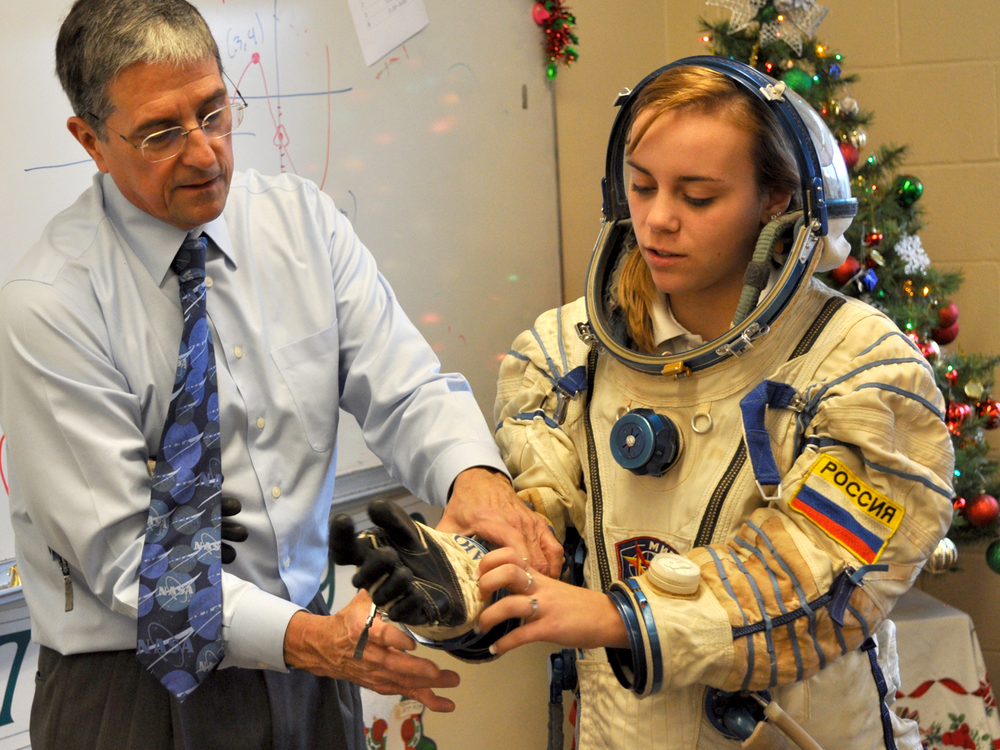 Learning how spacesuits protect astronauts.
