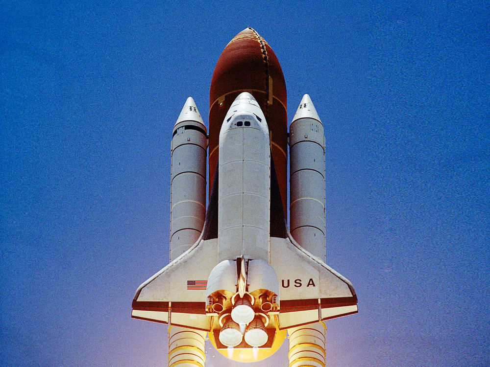 STS-65 launch of Space Shuttle Columbia.