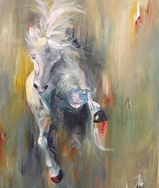 """9"""" x 12' acrylic on canvas"""