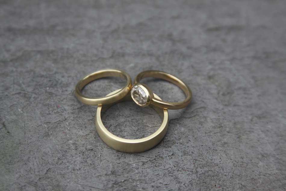 heatherjoshringsetjpg - Make Your Own Wedding Ring