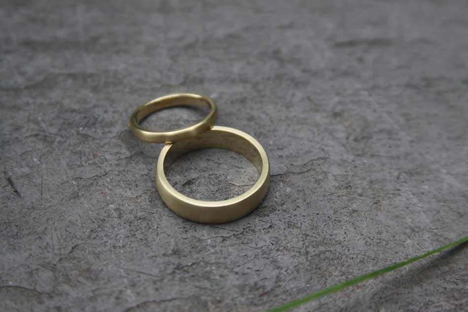 heatherjoshbandsjpg - Make Your Own Wedding Ring