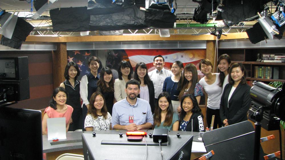 Global Link 2016 students visited NHK's Washington D.C. Bureau on July 20, 2016.