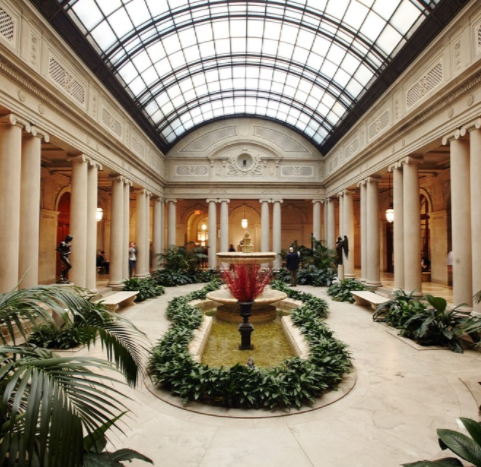The Garden Court at the Frick Collection