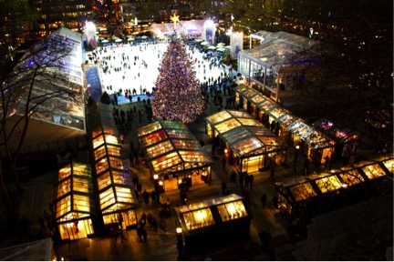 Holiday market at Bryant Park