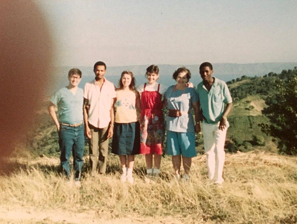 1988, St. Louis du Nord, Haiti. Medical team and translators.