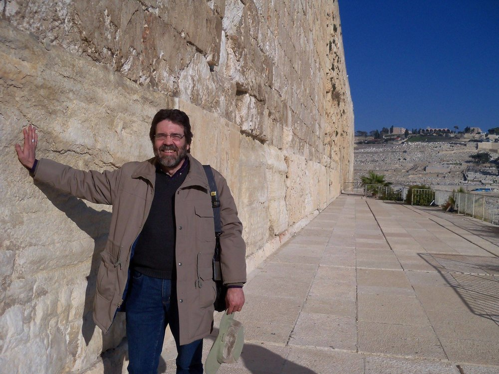 Ken at the Southern Wall of the Temple in Jerusalem.