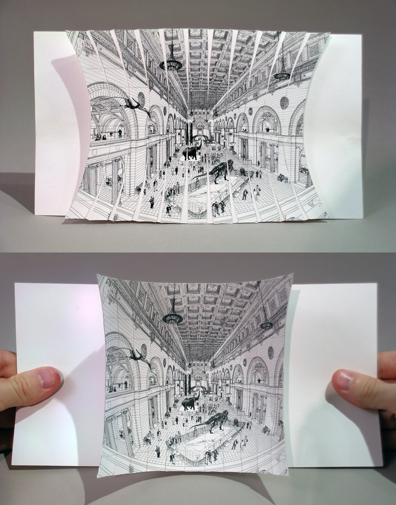 "Ryan & Trevor Oakes  Have No Narrow Perspectives: Field Museum Pop-Up , 2009 Offset printing on paper 6"" x 9.5"" x 2"" Retail Value: $100 Opening Bid: $20"