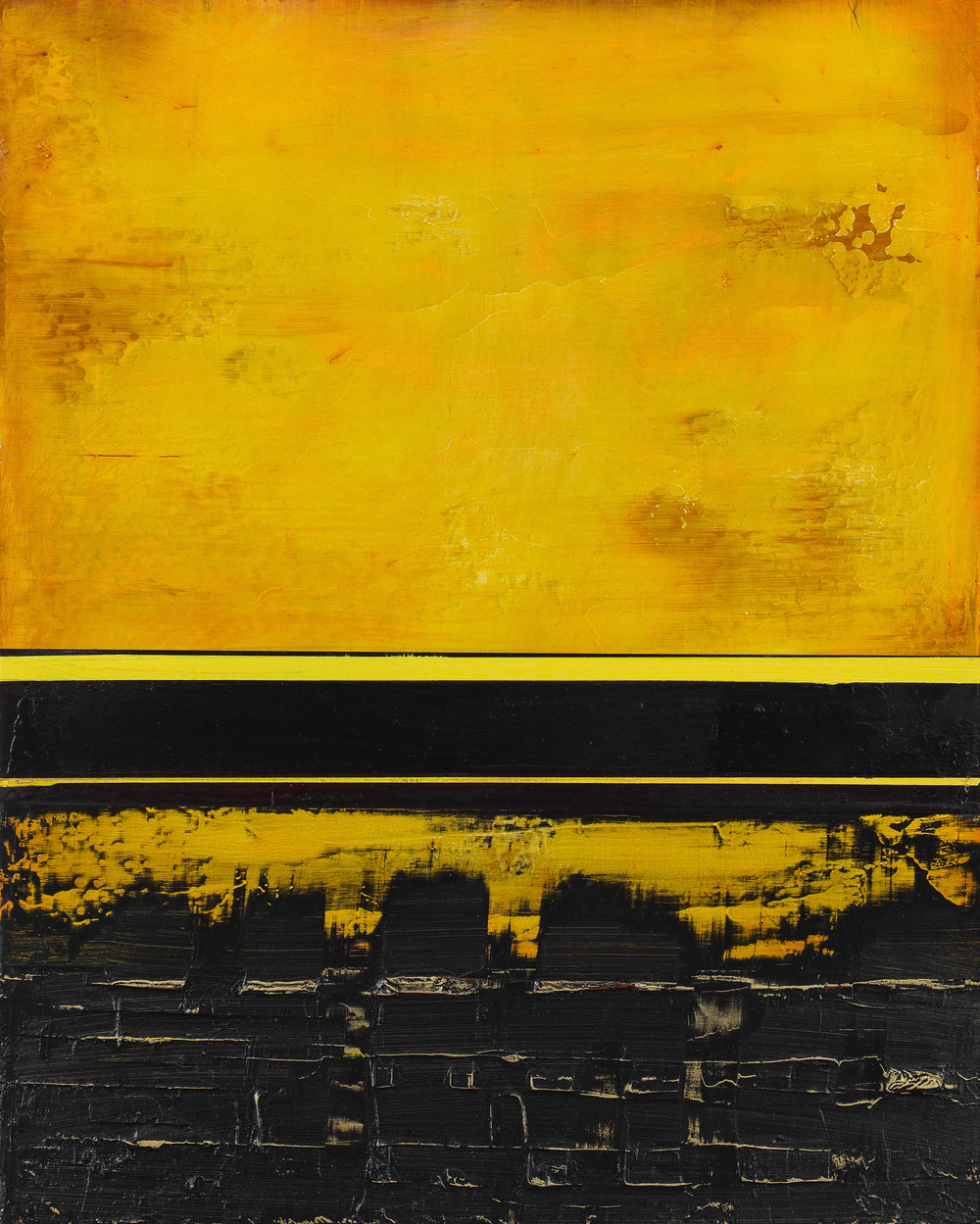 "Nola Zirin Saffron Sky, 2012 Oil and wax on panel 20"" x 16"" Retail Value: $3,000 Opening Bid: $1,000"