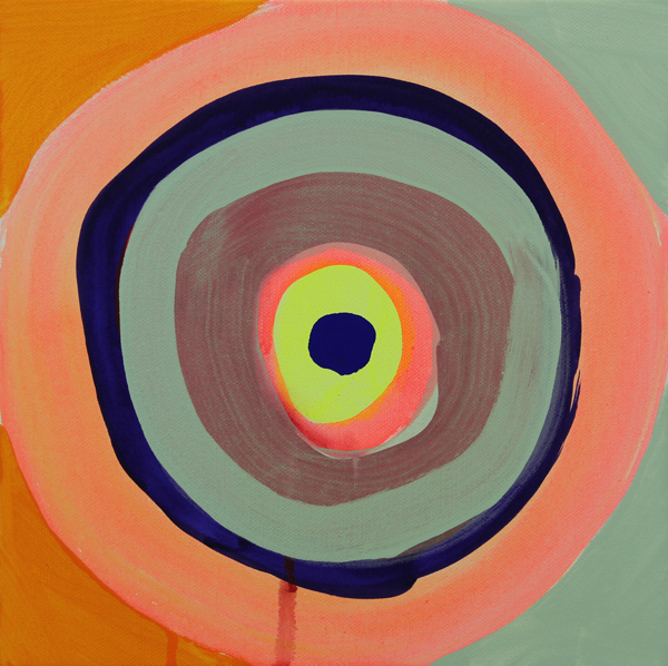 "Marina Adams Peace 57, 2013 Acrylic on canvas 10"" x 10"" Retail Value: $3,000 Opening Bid: $1,000"