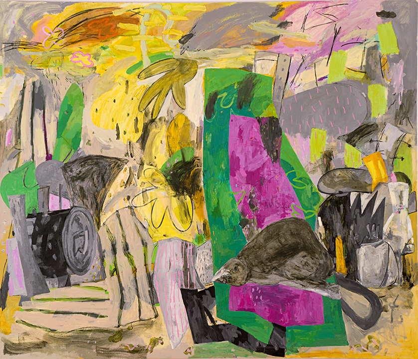 "Voy a vivir, 2013 Oil on canvas, 72"" x 84"""