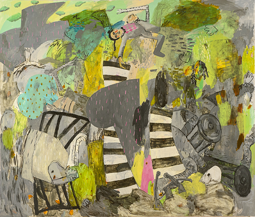 "El pelele, 2012 Oil on canvas, 72"" x 84"""