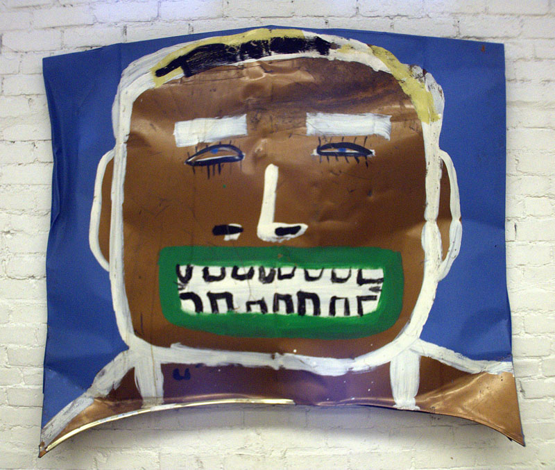 "Brown Boy, 1999 - 2005 Paint on metal, 48"" x 57"""
