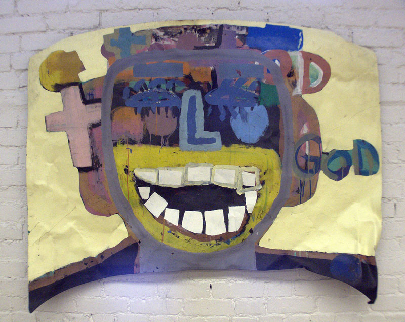 "Joy to the World, 1999 - 2005 Paint on metal, 48"" x 57"""