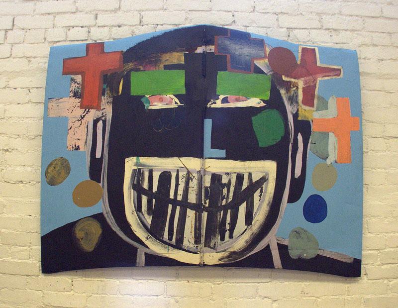 "Money Man, 1999 - 2005 Paint on metal, 48"" x 57"""