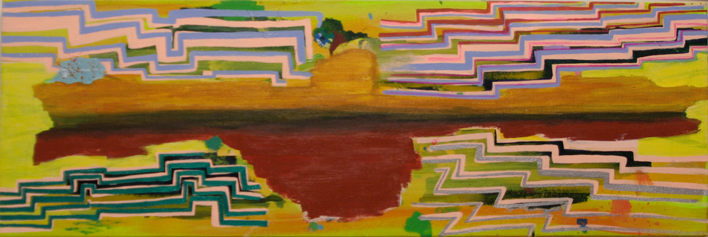 "Jasmine Justice Scrunchbolt, 2009 Acrylic on canvas 10"" x 32"" Retail Value: $3000 Opening Bid: $1000"