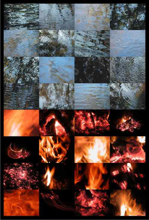 "Tina Girouard  FIREWATER for CUE , 2013 Photographs laminated to Sentra 37"" x 26"" Retail Value: MORE Opening Bid: LESS"