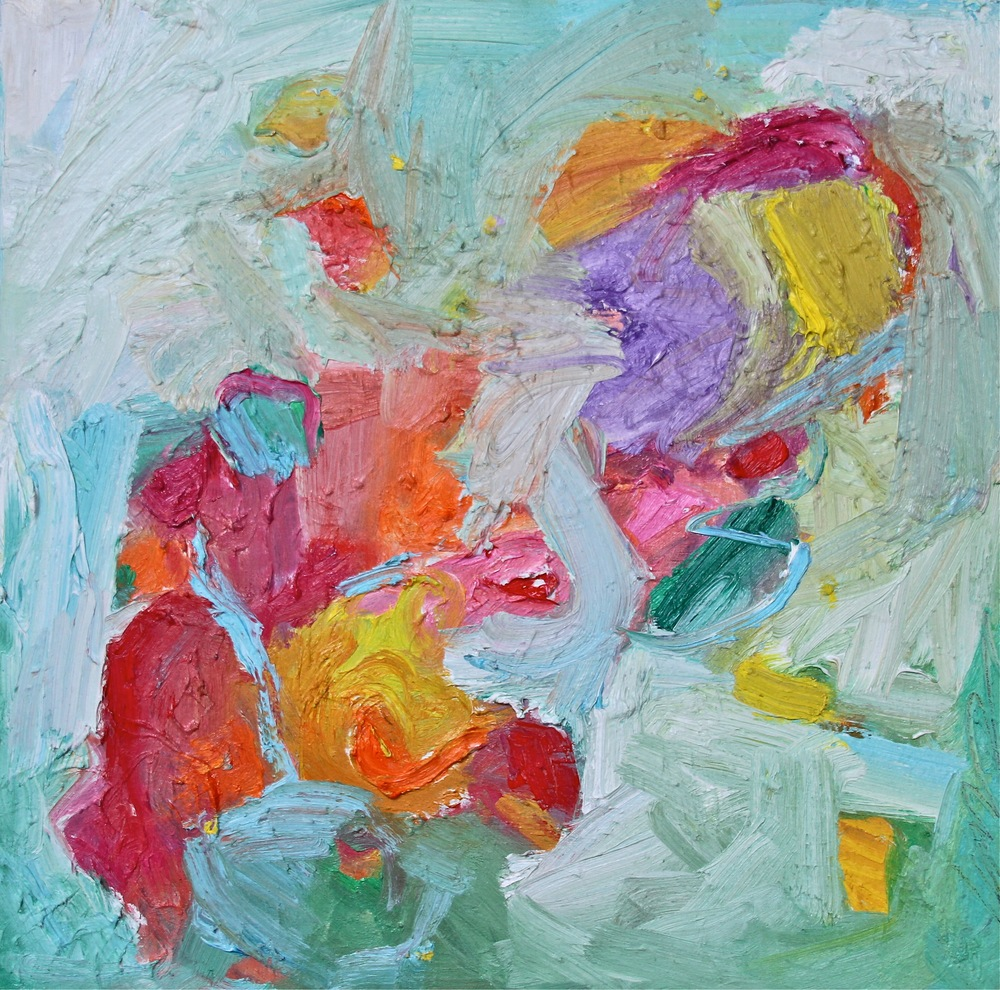 "Ruth Langs  Mocean No. 4 , 2013 Oil on canvas 30"" x 30"" Retail Value: $3,000 Opening Bid: $900"