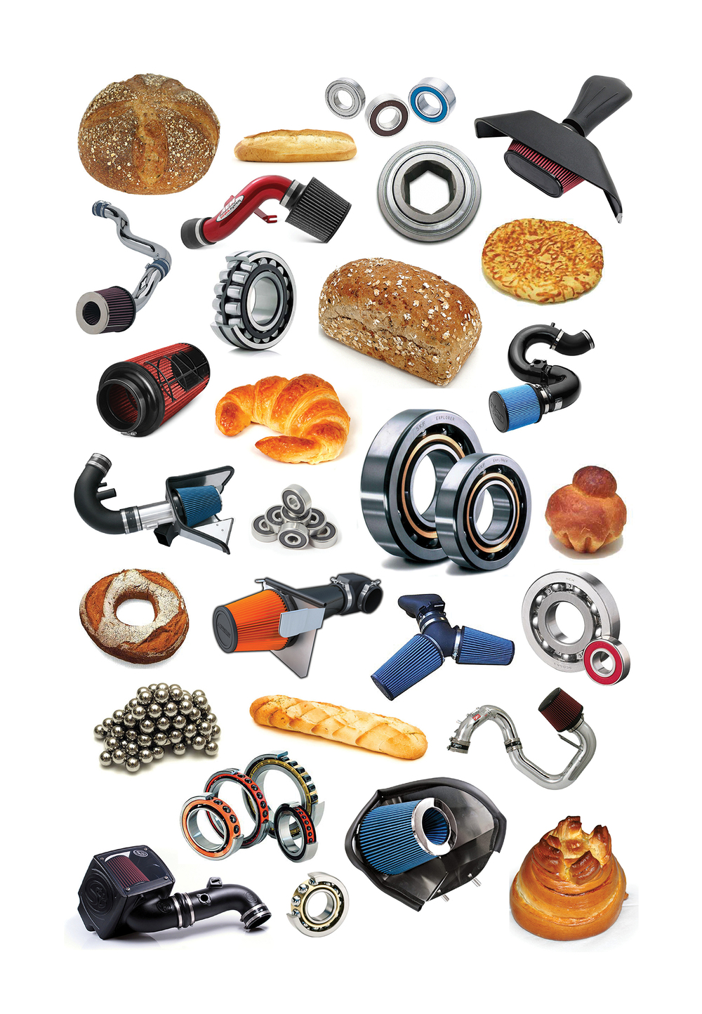 Jeff Gibson Set of two untitled prints (Bearings, bread, filters), 2014 Archival inkjet print Ed. 1 of 3
