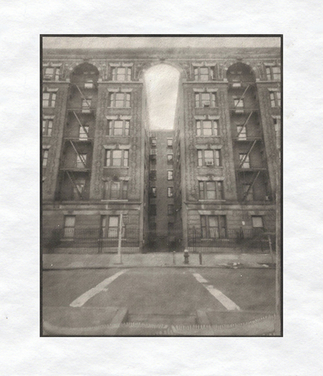 "Charles Koegel  149th St. and St. Nicholas,  2010 Platinum/palladium print 5"" x 4"" image 11"" x 9"" framed Retail Value: $325 Opening Bid: $150"