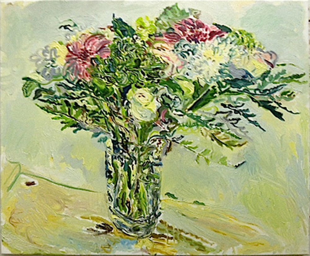 "Peter LaBier   Flowers,   2013   Oil on canvas   28"" x 34""   Retail Value: $2,000   Opening Bid: $750"