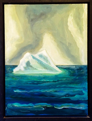 "Gregory Amenoff Labrador Sea, 2003 Oil on panel 16"" x 12"" Retail Value: $7,500 Opening Bid: $1,000"