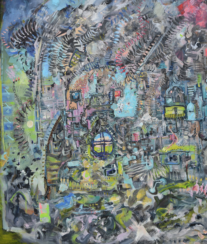 Basillica Crumbles  2012 Oil on canvas 72 x 58 inches