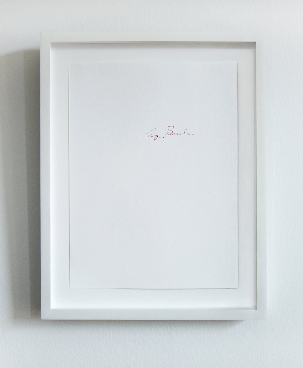 George H. W. Bush (1989-1993: Panama, Persian Gulf War, New World Order, etc.)   From the series  Everybody knows that they are guilty:  2013 - ongoing Human blood on paper 8.5 x 11 inches