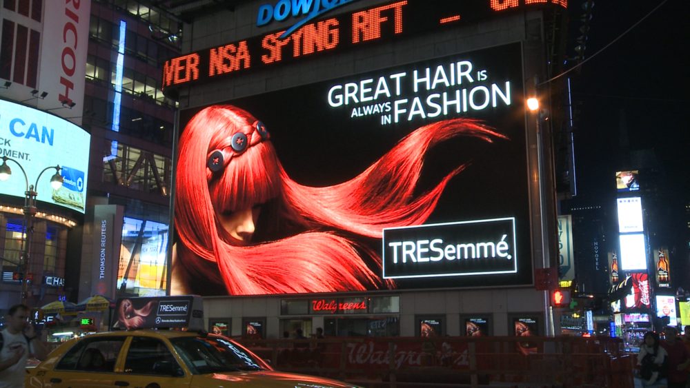 TRESemmé – Times Square Out of Home Digital Experience