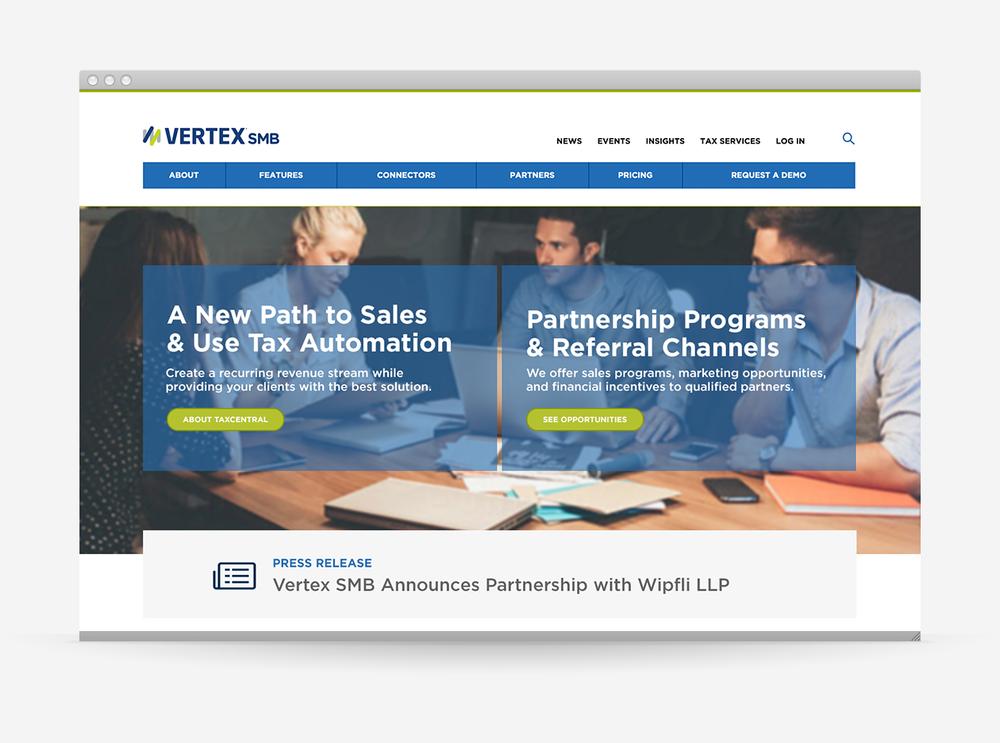 Vertex SMB – Website Redesign