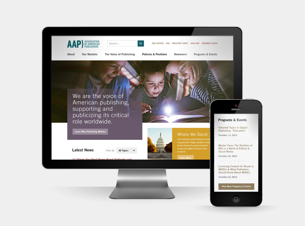 Association of American Publishes - Website Redesign