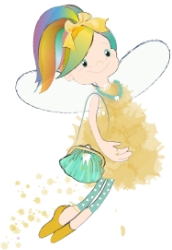 "Flitterfee, the ""all over the place"" tooth fairy who can't focus on any one thing for long. More tooth fairy pictures and letters at http://lettersfromatoothfairy.com/fairies"