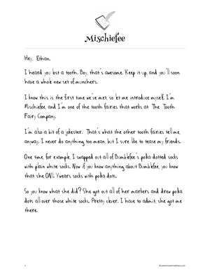 Letters from a tooth fairy in this free tooth fairy letter tooth fairy spiritdancerdesigns Image collections
