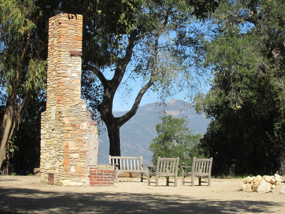 MEHER BABA'S CHIMNEY that was part of house where Meher Baba spent time with His followers during His 1956 visit. (Wayne Myers photo, 2013.)