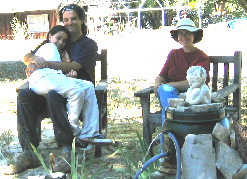 MANAGER/CARETAKERS Laurent and Lilly Weichberger with their daughter Aspen. They lived at Meher Mount from 2005 to 2006. (Photo courtesy Laurent Weichberger.)