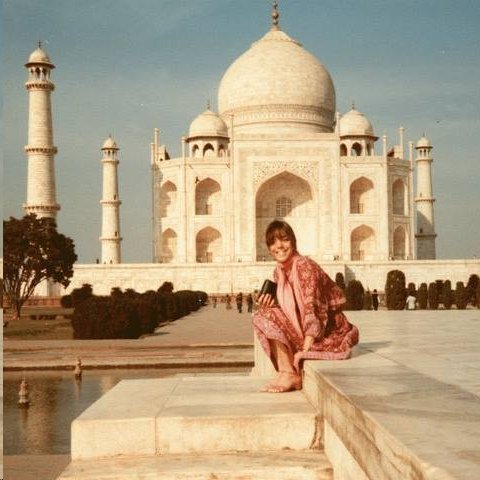 URSULA REINHART in front of the Taj Mahal in Agra, India in the 1960s. (Ursula Reinhart photo.)