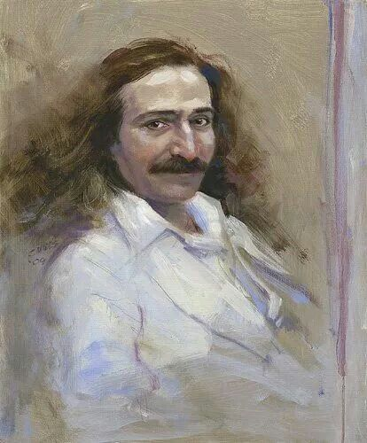 A painting of Avatar Meher Baba by  Charlie Mills .