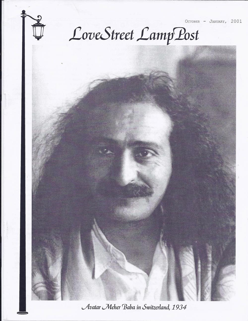 THE LAMP STREET LAMP POST cover of the October-January 2001 issue with Avatar Meher Baba from which this article is excerpted.