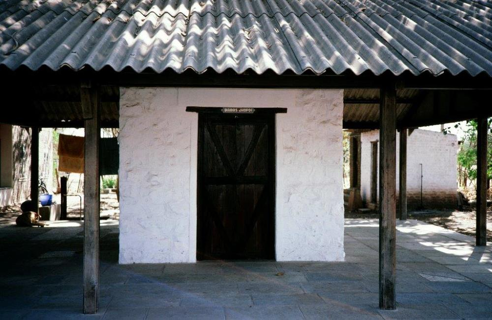 "AVATAR MEHER BABA came out of this  jhop  di  (hut) in Meherabad, India, at 5:00 a.m. on Friday, July 10, 1925, marking the start of His silence. Asked how He would teach in silence, Meher Baba replied, ""I have come not to teach, but to awaken."" (Sam Ervin photo.)"