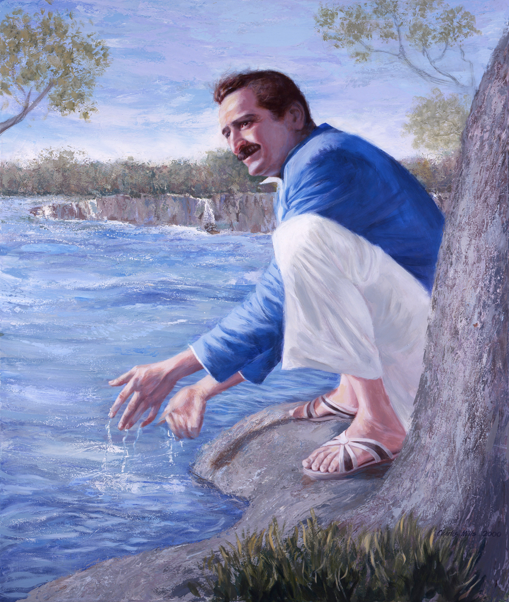 AVATAR MEHER BABA at the Narmada River, India, Christmas 1938. (Painting:    Charles Mills Studios . Used with permission.)
