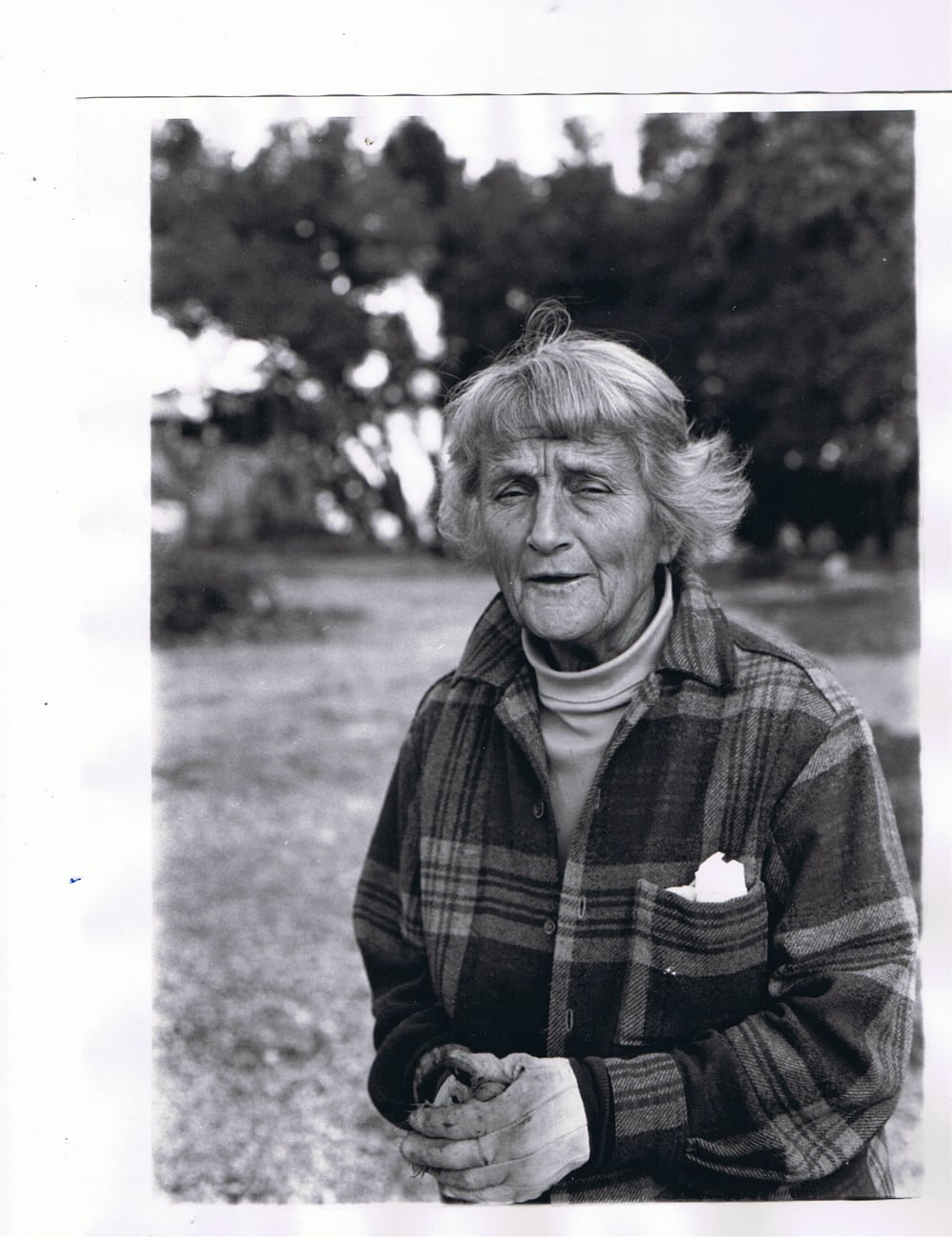 AGNES BARON (1907-1994) at Meher Mount, probably sometime in the 1970s.