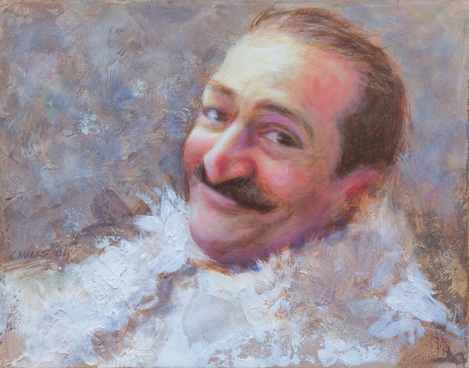 AVATAR MEHER BABA painting by Charles Mills. (Mills Studio)