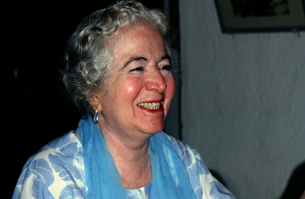 MANI S. IRANI, Avatar Meher Baba's sister, pictured here in Mandali Hall in Meherazad, India, in the early 1990s where she would tell stories of her life with Meher Baba. (Sam Ervin photo.)