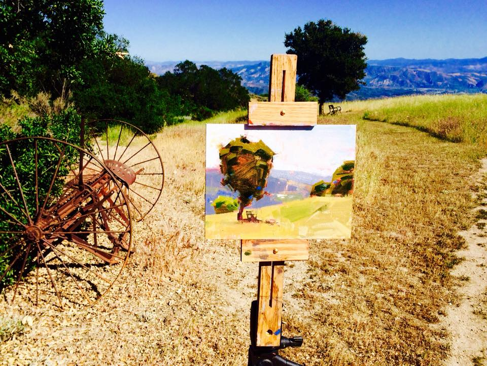 EACH ARTIST has his or her own unique view of the landscape. (Photo: Buzz Glasky, 2015)